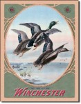 Winchester Mallards Tin Sign