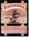 Winchester Express Rider Tin Sign