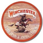 Winchester Firearms & Ammo Tin Sign