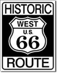 Historic Route 66 Tin Sign