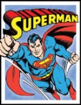 Superman Retro Panels Tin Sign