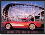 Lucinda Lewis Roller Coaster Tin Sign