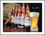 History of Budweiser Tin Sign