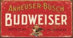 Budweiser Weathered Tin Sign