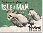 Norton Manx Grand Prix Tin Sign