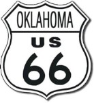 Route 66 Oklahoma Tin Sign