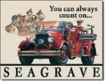Seagrave Firetruck Tin Sign