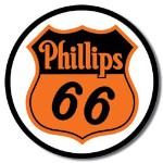 Phillips 66 Shield Tin Sign