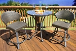 Highlites Synthetic All Weather Wicker 3 Piece Balcony Set