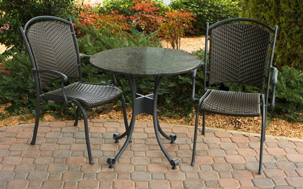 Highlites Synthetic All Weather Wicker 3 Piece Bistro Set