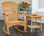 Plantation Southwest Amber Wicker Outdoor Rocking Chair