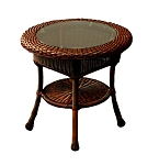 Lexington Synthetic All Weather Wicker End Table n Java Wicker