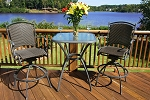 Tuscan Lorne Synthetic All Weather Wicker 3 Piece Bar Set