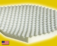 "Twin XL Size Egg Crate Foam Mattress Topper 2"" Thick"