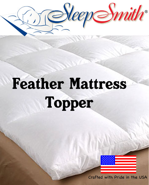 free shipping 691b9 0f25a Cot Bed Feather Mattress Topper