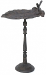 Cast Iron Leaf Bird Bath