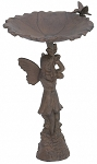 Cast Iron Pixie Bird Bath