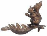Cast Iron Squirrel Bird Feeder