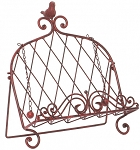 Iron Red Cook Book Stand