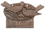 Bird Welcome Iron Sign