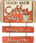 Coffee Shop Tin Sign