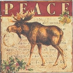 Moose Peace Tin Sign