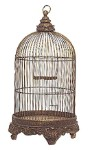 Antique Bronze Color Birdcage To House A Plant