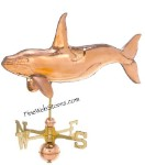 Killer Whale Three Dimensional Polished Weather Vane