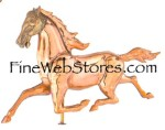 Med. Horse Three Dimensional Polished Weather Vane