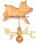 Romping Pig Weather Vane