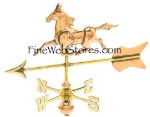 Horse Cottage Size Three Dimensional Weather Vane
