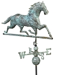 Horse Weathervane Patina Finish