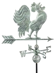 Crowing Rooster Weathervane Patina Finish