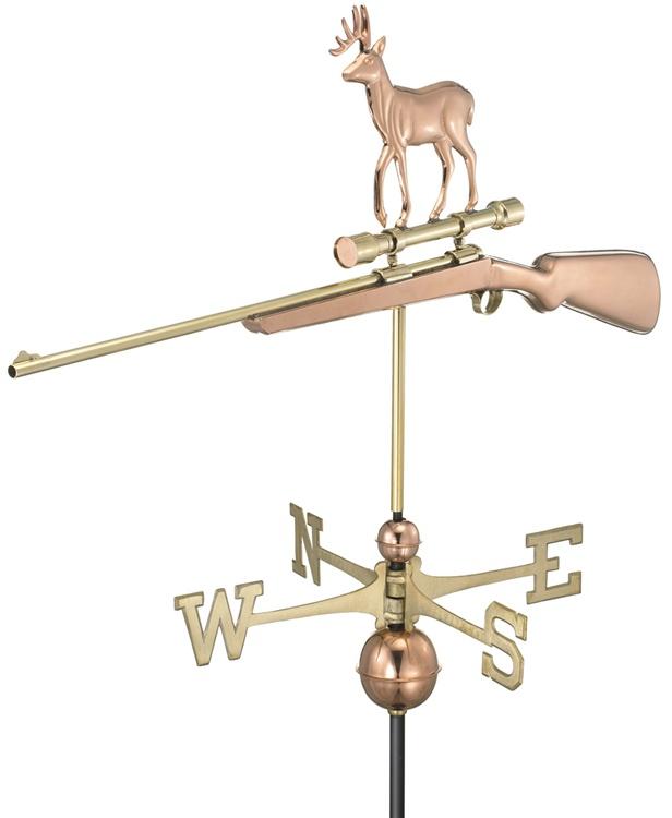 Deer Scope Rifle Weathervane