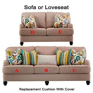 Ashley® Hariston replacement cushion cover, 2550038 sofa or 2550035 love