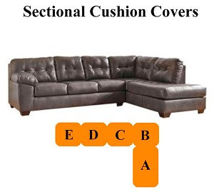 Ashley® Alliston Grey Sectional replacement cushion and cover, 20102