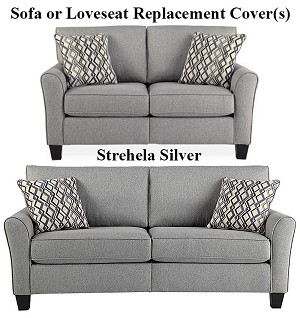 Ashley® Strehela Silver replacement cushion cover, 3310138 sofa or 3310135 love