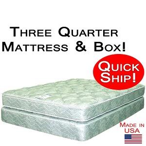Quick Ship Three Quarter Good Mattress Amp Box Foundation
