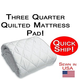 Quick Ship! Three Quarter Size Quilted Mattress Pad