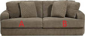 Jackson® Palisades Porcini 418603 Sofa or 418602 Love Seat Replacement Cushion Cover