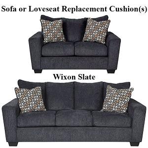 Magnificent Ashley Wixon Slate Replacement Cushion Cover 5700238 Sofa Or 5700235 Love Machost Co Dining Chair Design Ideas Machostcouk