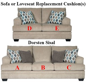 Ashley® Dorsten Sisal  replacement cushion cover, 7720538 sofa or 7720535 love