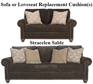Ashley® Stracelen Sable replacement cushion cover, 8060338 sofa or 8060335 love