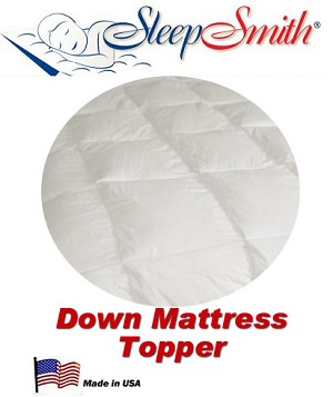 Round Bed Down Mattress Topper. This Topper is Completely Round (Not like shown)