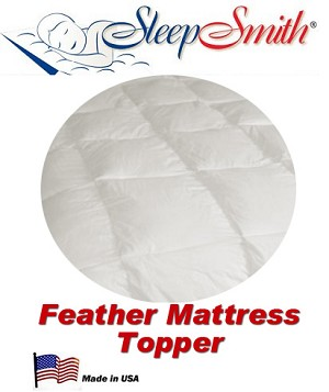 Round Feather Bed Mattress Topper 72 inches Round