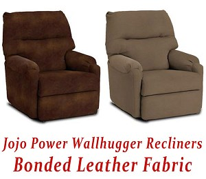 Jojo Power Wallhugger Recliner in Bonded Leather