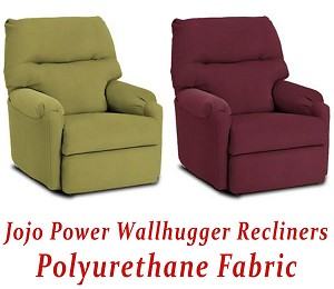 Jojo Power Wallhugger Recliner in Polyurethane