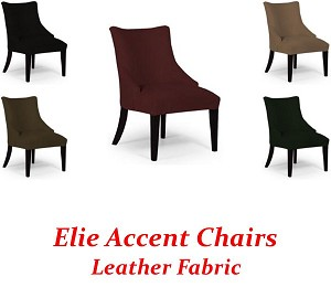 Elie Accent Chair in Leather