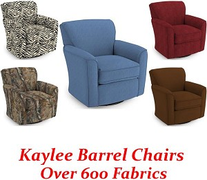 Kaylee Swivel Glider Barrel Chair