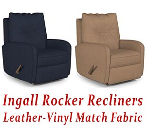 Ingall Rocker Recliner in Leather-Vinyl Match